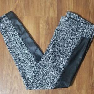 Faux Leather Activewear Leggings